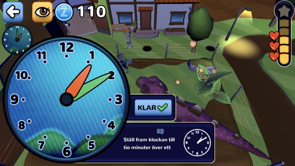 I Klockgården kan barnen lära sig klockan